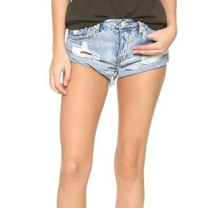 One Teaspoon Women's Blue Bandit Shorts